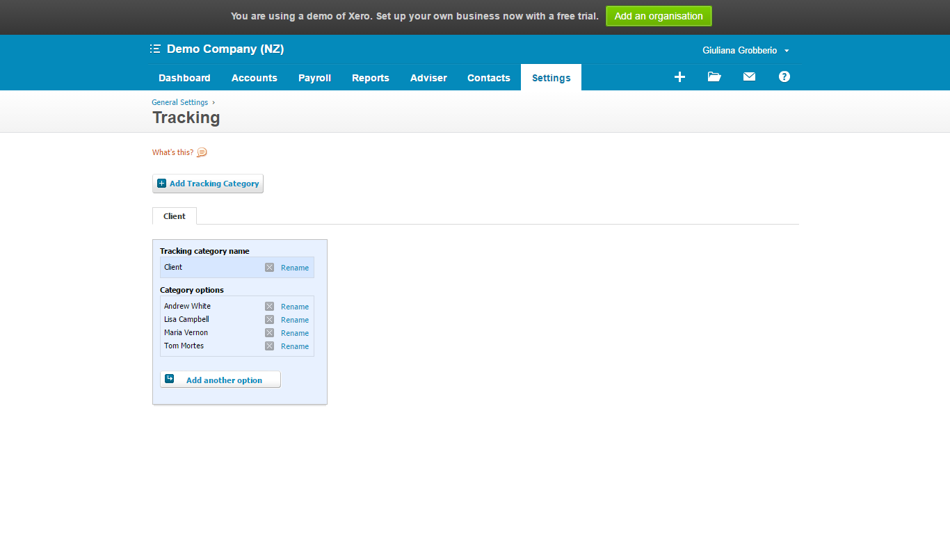 Tracking your income in Xero 1