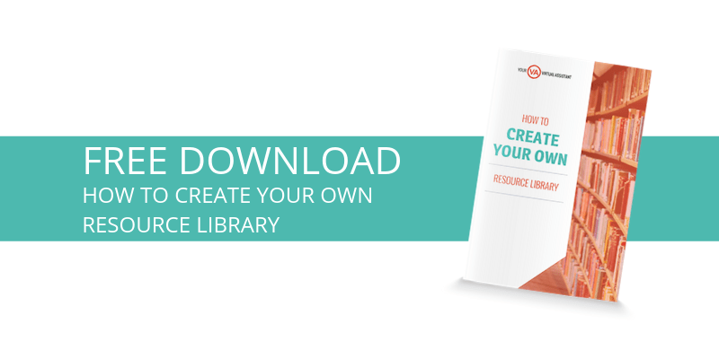 How to create your own resource library [free download]