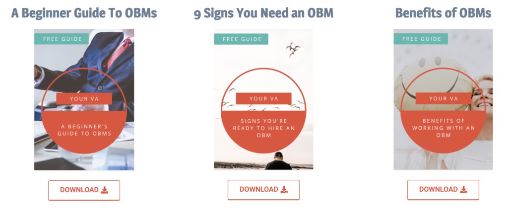 Download our free guides on working with an online business managers