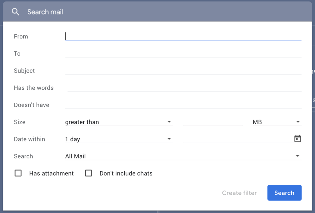Using gmail filters to organise your inbox