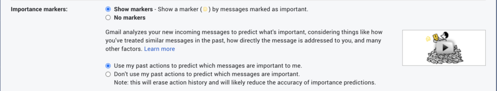 Gmail Importance Markers
