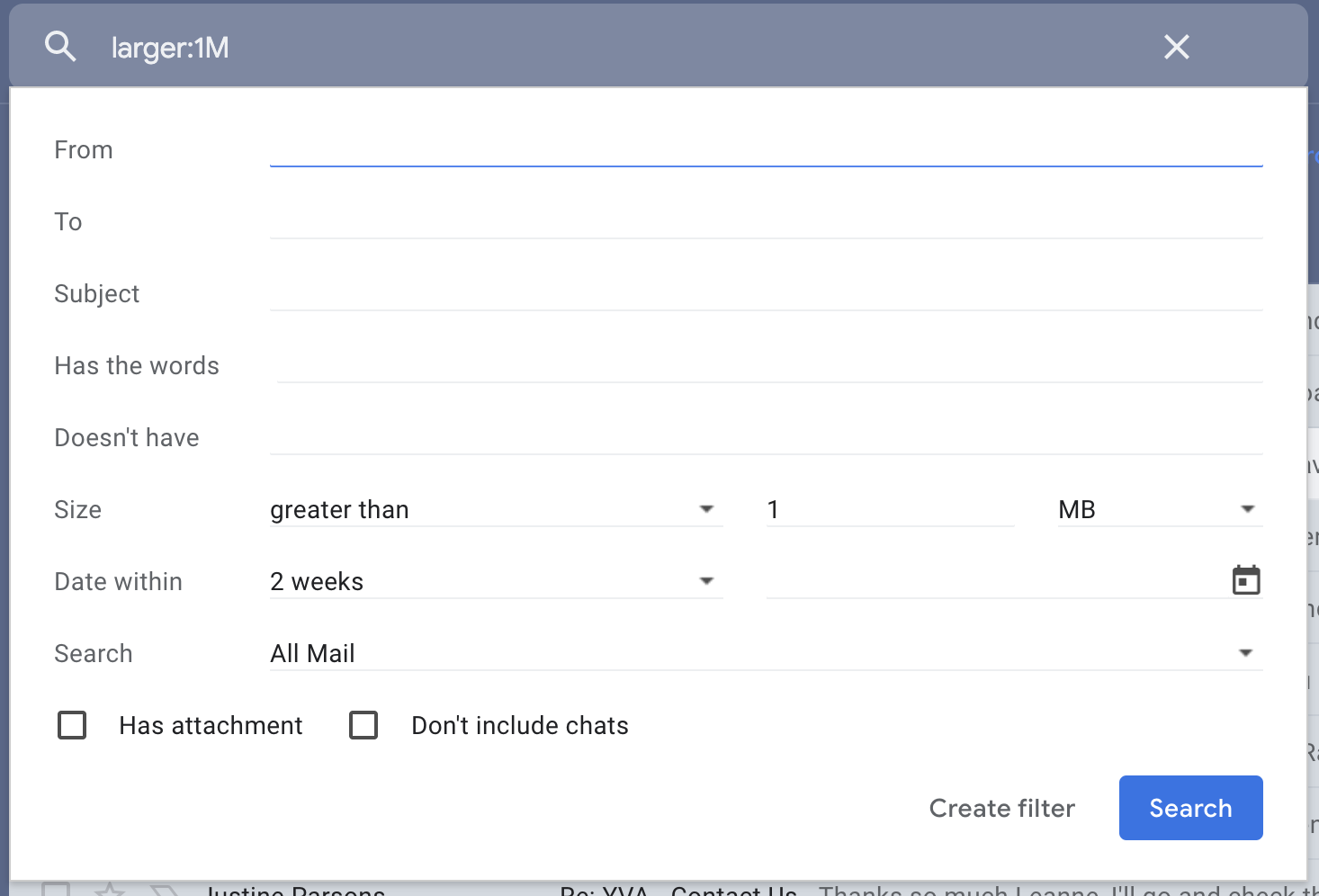 Delete emails to save storage in gmail