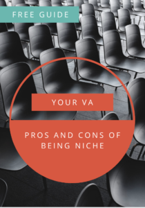 Pro's and con's of being niche